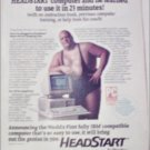 1988 Headstart Computer ad featuring King Kong Bundy