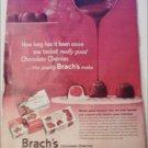1960 Brachs Chocolate Cherries ad