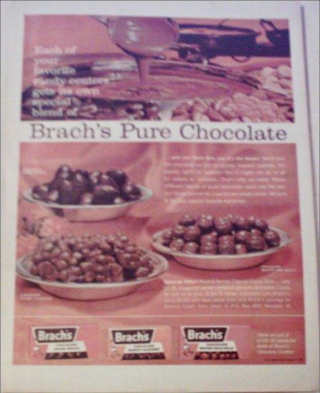 1962 Brachs Chocolate Candy ad