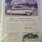 1956 American Motors Nash Ambassador CC 2 dr ht car ad at Disneyland yellow