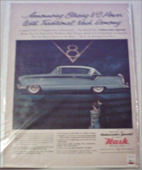 1956 American Motors Nash Ambassador Special 2 dr ht car ad