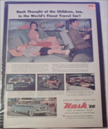 1956 American Motors Nash Ambassador 4 dr sedan car ad