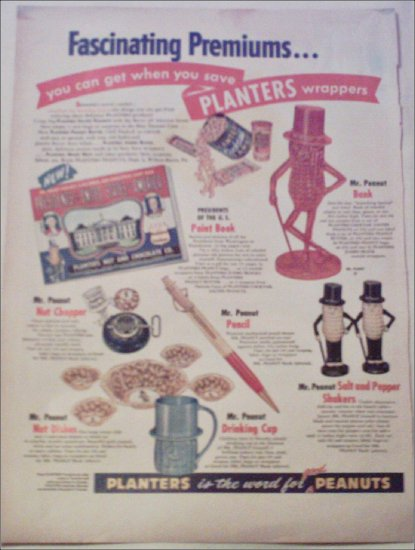 Planters Peanuts Collectibles ad