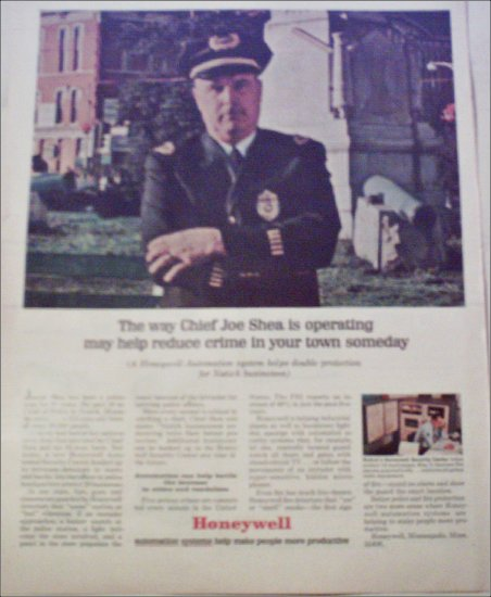 1967 Honeywell Automated Security Center ad