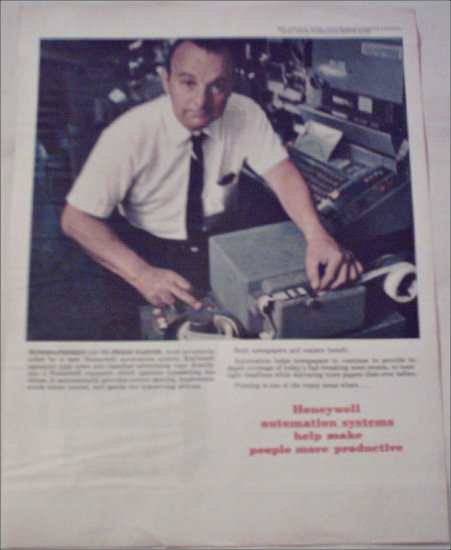Honeywell Typesetting Automation System ad