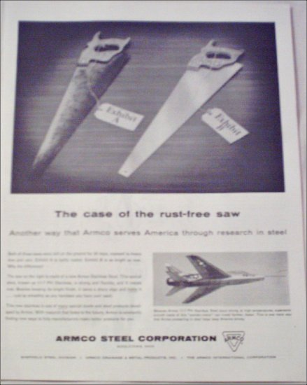 1956 ARMCO Stainless Steel ad