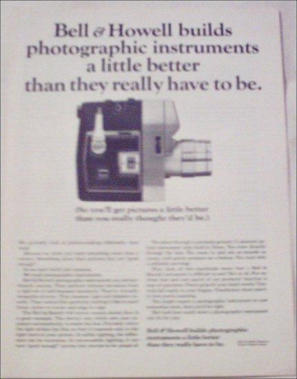 Bell & Howell 418 Movie Camera ad