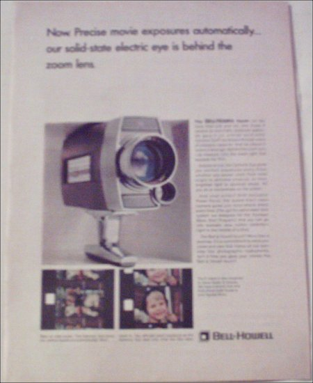 1966 Bell & Howell Super 8 Camera with Optronic Eye ad