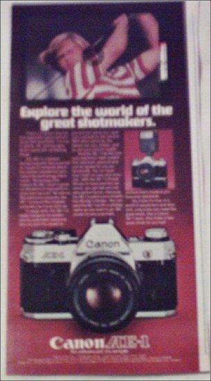 Canon AE-1 Camera ad