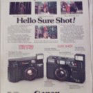 1982 Canon Sure Shot Camera ad