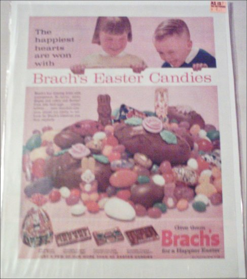 1963 Brachs Easter Candies ad