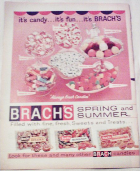 1964 Brachs Spring and Summer Candy ad