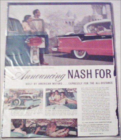 1956 American Motors Nash Ambassador CC 2 dr ht car ad