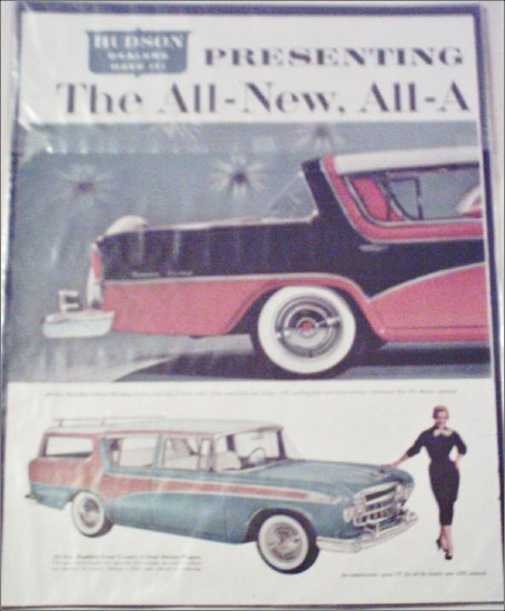 1956 American Motors Rambler Custom 4 dr ht car ad
