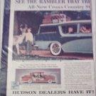 1956 American Motors Rambler Custom 4 dr stationwagon car ad