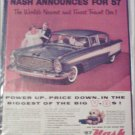 1957 American Motors Nash Ambassador 4 dr sedan car ad