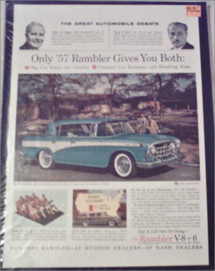 1957 American Motors Rambler Custom 4 dr ht car ad