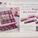 1958 Planters Milk Chocolate Nuts ad