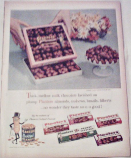 1959 Planters Milk Chocolate Nuts ad