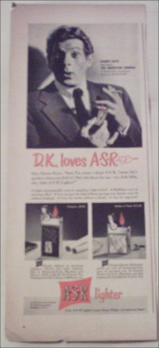 1949 A-S-R Lighter ad featuring Danny Kaye