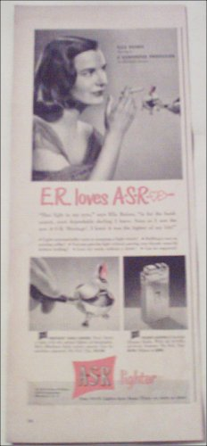 A-S-R Lighter ad featuring Ella Raines