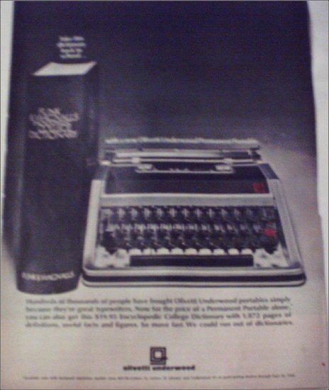 Olivetti Underwood Portable Typewriter ad
