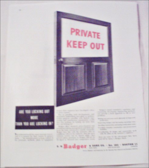 Badger & Sons Company ad #1