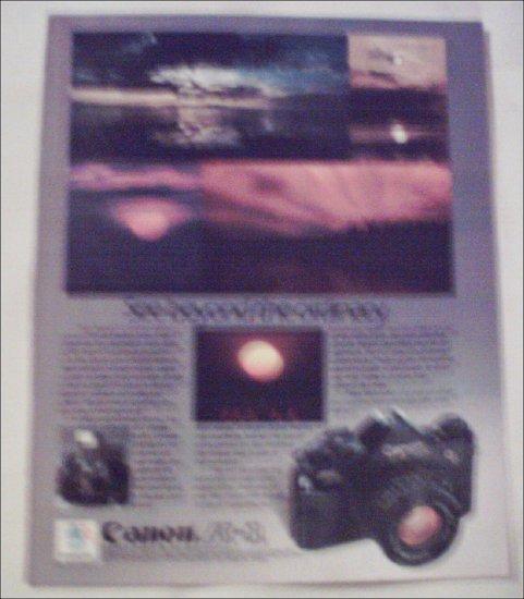 1983 Canon A-1 Camera Sunset ad