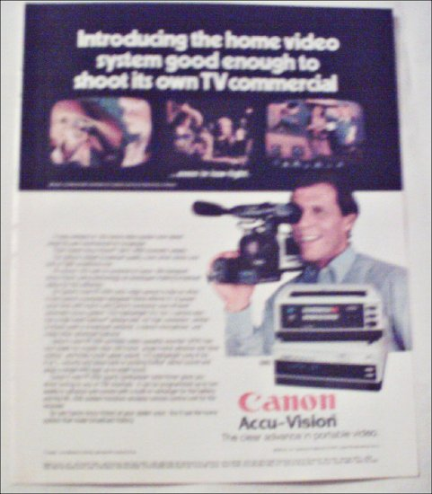 1983 Canon Accu-Vision Video Camera ad