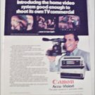 1983 Canon Accu-Vision Video Camera ad