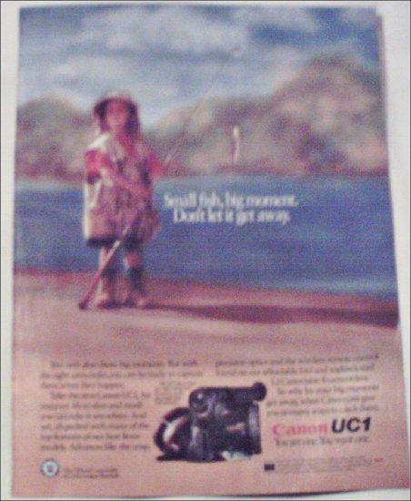 1991 Canon UC1 Camcorder ad