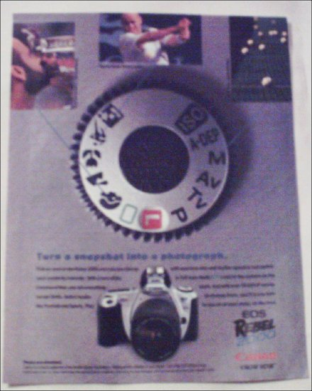 2000 Canon EOS Rebel 2000 Camera ad