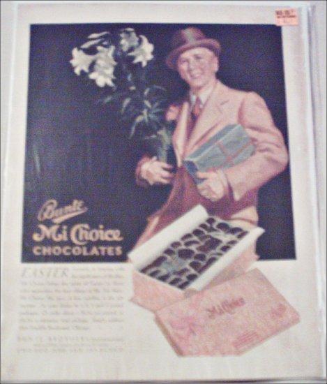 1931 Bunte Mi Choice Chocolates Easter ad