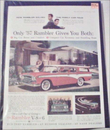 1957 American Motors Rambler CC 4 dr stationwagon car ad