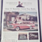 1957 American Motors Rambler CC 4 dr stationwagon car ad