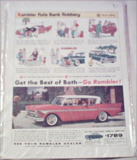 1958 American Motors Rambler Rebel 4 dr ht car ad