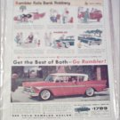 1958 American Motors Rambler Rebel 4 dr ht car ad