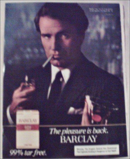 1982 Barclay Cigarette Dark Jacket ad