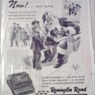 1945 Remington Rand Deluxe Model 5 Typewriter Christmas ad