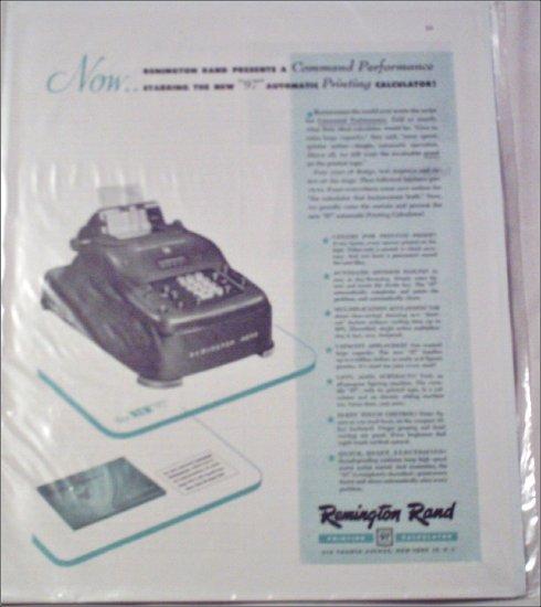 Remington Rand 97 Calculator ad