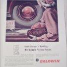 Baldwin Plastic Presses ad