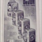 DeJur 8 mm Movie Cameras Christmas ad