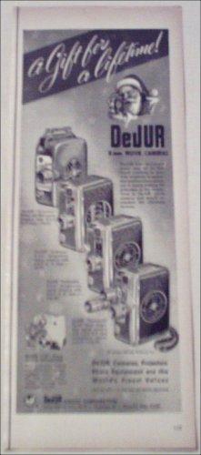 DeJur 8 mm Movie Cameras Christmas ad