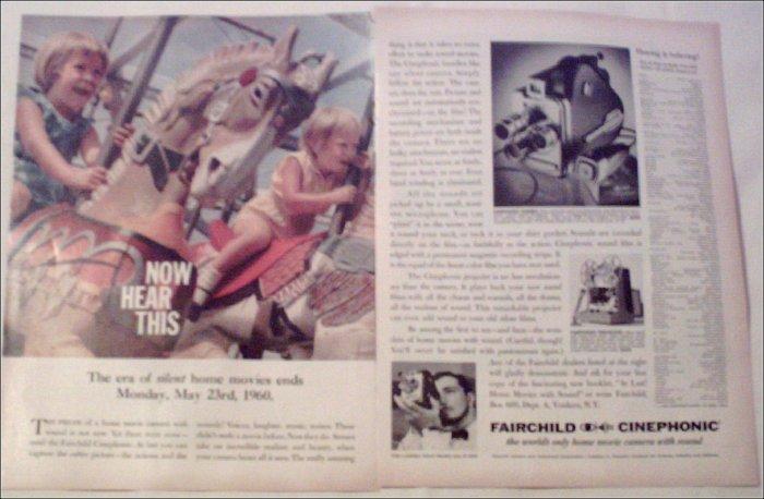 1960 Fairchild Cinephonic Movie Camera ad #1