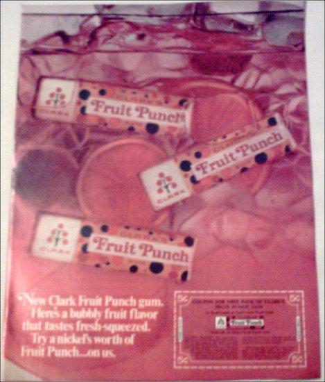 1967 Clarks Fruit Punch Gum ad