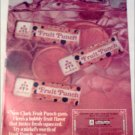 1967 Clarks Fruit Punch Gum ad