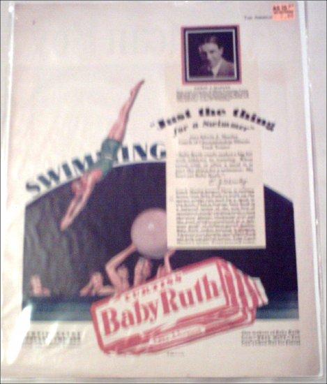 1929 Curtiss Baby Ruth Candy Bar ad