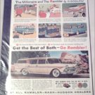 1958 American Motors Rambler Custom stationwagon car ad