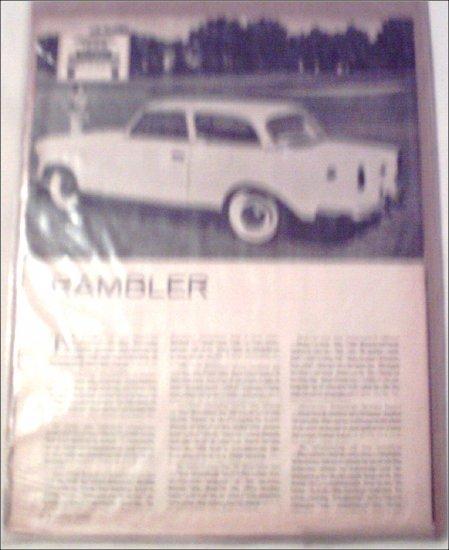1959 American Motors Rambler Road Test Article