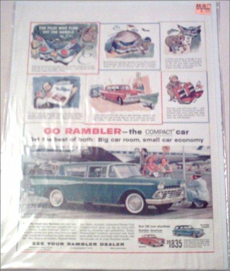 1959 American Motors Rambler Custom 4 dr sedan car ad
